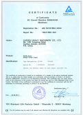 Certificate of Conformity EC Council Directive 2006/42/EC Machinery
