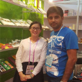 take photo with our customer