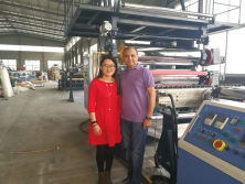 Dubai Customer PVC Sheet Production Line MLV Sheet Production Line