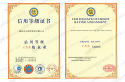 Certificatee of credit rating assigment