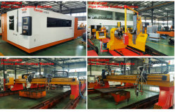 Four Sets CNC Fiber Laser Plasma and Flame Cutting Machine for AG&P Philippines