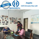 Angola client visiting