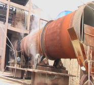 Bauxite production in rotary kiln