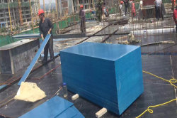 Blue color PP plywood