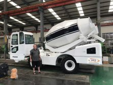 Mobile concrete mixer-Tested by our New Zealand customer