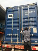 finish loading and close the contianer′s door