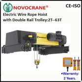 European Electric Wire Rope Hoist for Double Girder Overhead Crane
