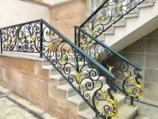 wrought iron realings decoration metal fencing