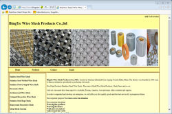 The first Website about BingYe Wire Mesh Products Co.,LTD