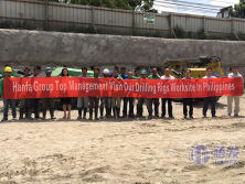 Hanfa Group top management visit our drilling rigs worksite in Philippines