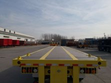 45Feet Flatbed Container Trailer with wood plate exported to North America