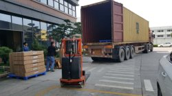 Company packing and loading container