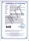 LED TUBE ROHS certificate of conformity