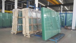 large size silk-screen printing glass