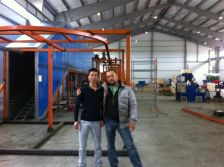 Russia Customer powder production line for metal finishing