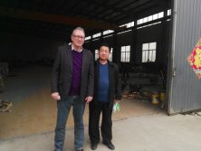 Customer visiting our silicon crgo cuttingworkshop