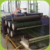 Our extruding production line for artificial turf