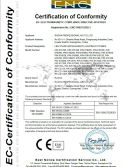 CE CERTIFICATE for LED PAR LIGHT