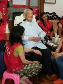 24th,Oct.2015 Visiting the elderly
