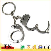 Customized kinds of metal zinc alloy handcuffs shape keychains