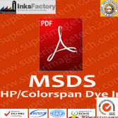 HP/Colorspan Dye Inks MSDS