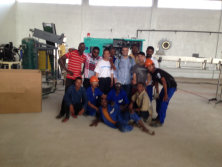 Water plant team in Africa