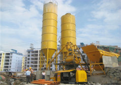 Pully Concrete Pump With Concrete Batching Plant