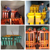 Delivery manual clay brick machine by container