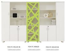 FOH Custom Design Modern White and Green Office File Cabinet