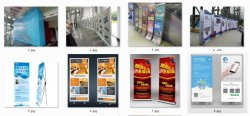 Wuhan smart all kinds of display racks and x-banners for advertise