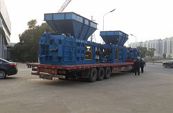 Shipping EPM horizontal baler to Shanghai port