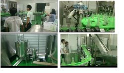 6000bph glass bottle gas contain beverage filling line