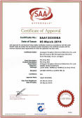 SAA certificate for PVC heating
