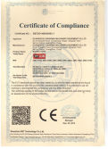 CE Certificate of deck oven