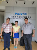 Two turkmenistan clients come to view UV printer
