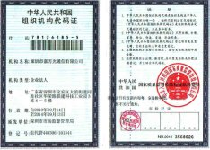 Orgnization certificate