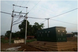 Completed substation 250-400kva,800kva,35/0.4kv at Loudima of Congo