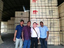 Sri Lanka Customers visit our plywood factory