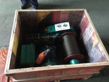 electric winch wooden box packing