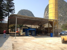 QT10-15D concrete block production line in Malaysia