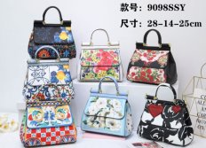 printed flower handbag