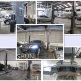 Two post car lift in the Asian Mercedes-Benz 4S shop