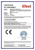 CE Certificate of wings-style drop tester