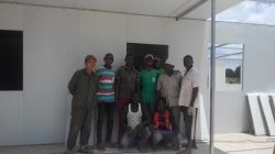 Our New Project Of Prefab House In Kenya, Group Photo Of Engineer And Workers