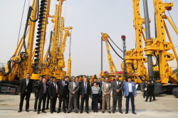 The United States Client visit XCMG Piling Machinery