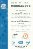 ISO 14001 Certificate of coating