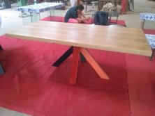 Wood veneered dining table-2