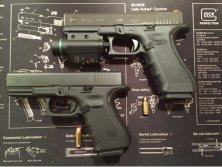 Doublecross Green Laser Flashlight Combo on GLOCK