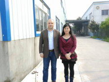 Customer visiting our factory for Aluminium foil