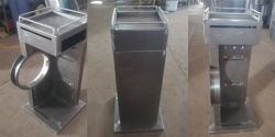 metal cosmetic floor display shelf